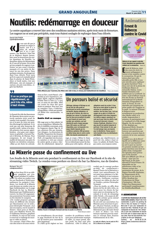 Article La Charente Libre Ernest & Rebecca